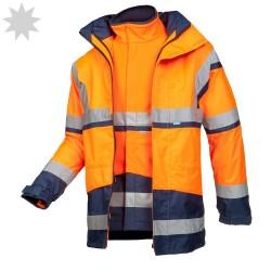 Hi Vis Class 3 Half Sleeve Vest - YELLOW